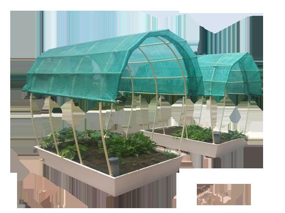 Self watering organic terrace gardens organic composters for Eco indoor garden house