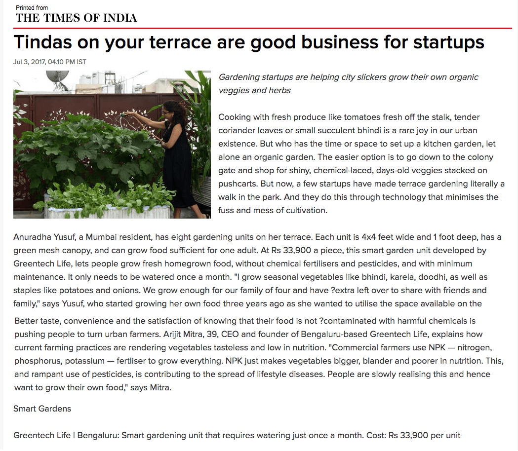 times-of-india-article-greentech-life